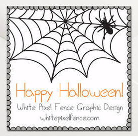 "2""x2"" Halloween label"
