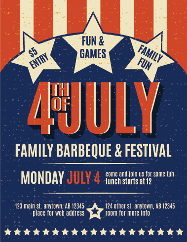 July 4 Flyer Printing