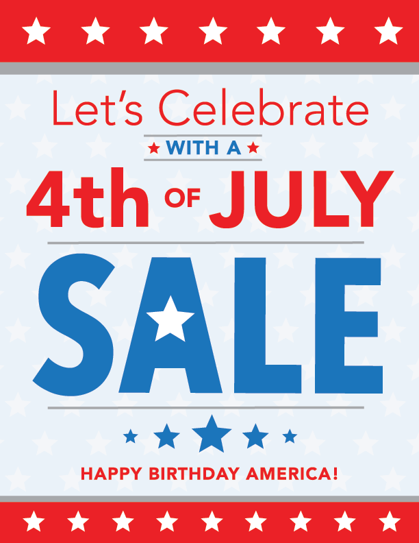 July 4th Sale Printing