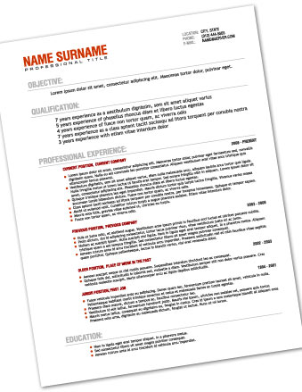 Printing Resume Black and White