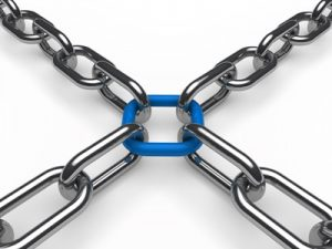 picture of a chain with links interconnected representing strong bond with clients | ColorCopiesUSA