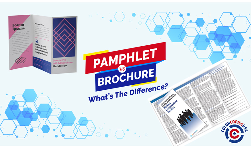 Pamphlets VS Brochures. Visuals of both
