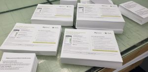 picture of documents used at testing facilities in South Florida