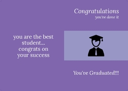 You've Graduated!!