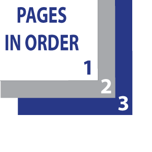 Collated: Pages are printed and grouped in the order indicated in the file