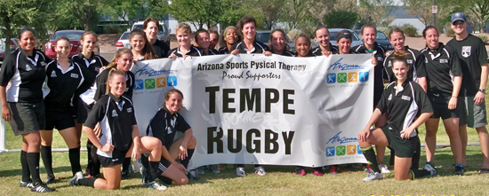 banner for rugby team