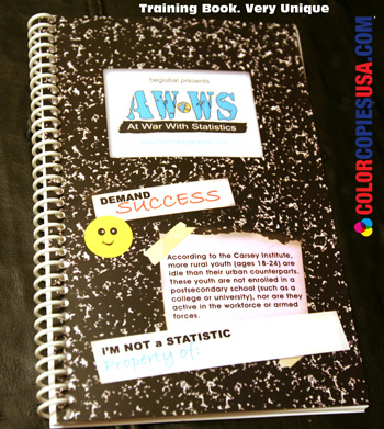 training books printed throught color copies can be creative and effective