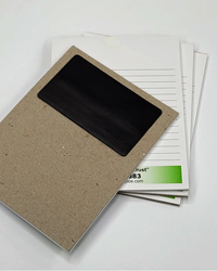 Example of notepad with magnet on the back