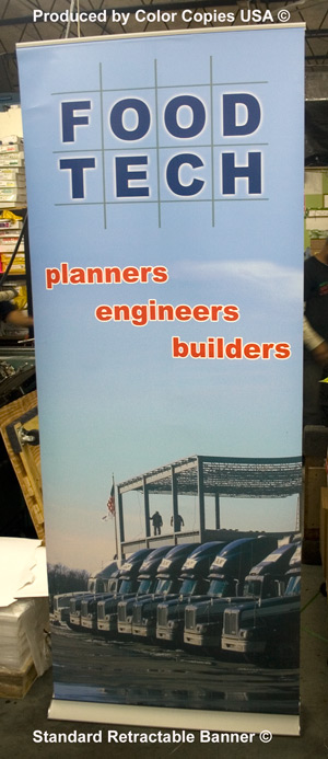 Standard Retractable Banner made for Food Tech