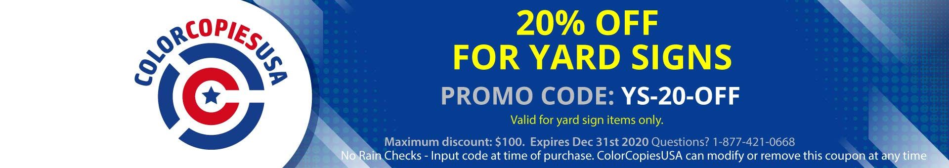 20% Discount on Yard Signs