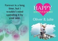 Anniversary Greetings Card