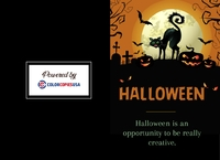 Colorful Halloween holiday card