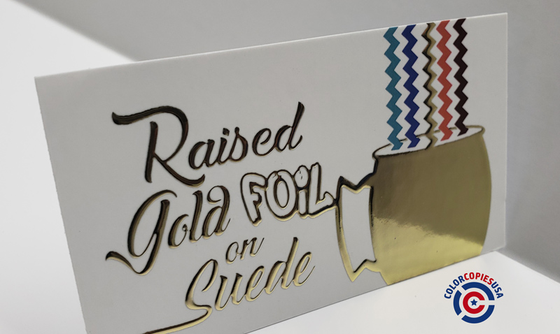 Raised Gold, Holographic or Silver Foil Invitations and Greeting Cards