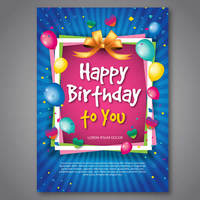 illustration showing a happy birthday card | ColorCopiesUSA