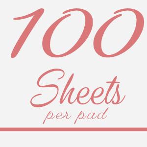 100 Sheets per pad