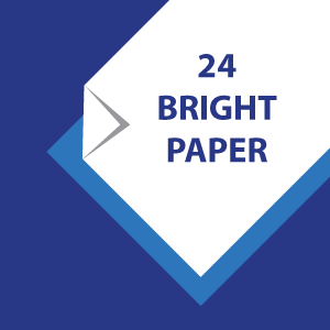 24# Whiter  and thicker 92 bright paper