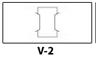 Vertical slit - 3.5 x 2 - on left pocket