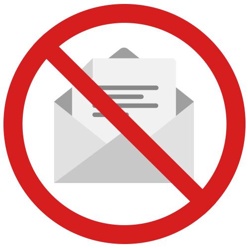 No mailing preparation necessary