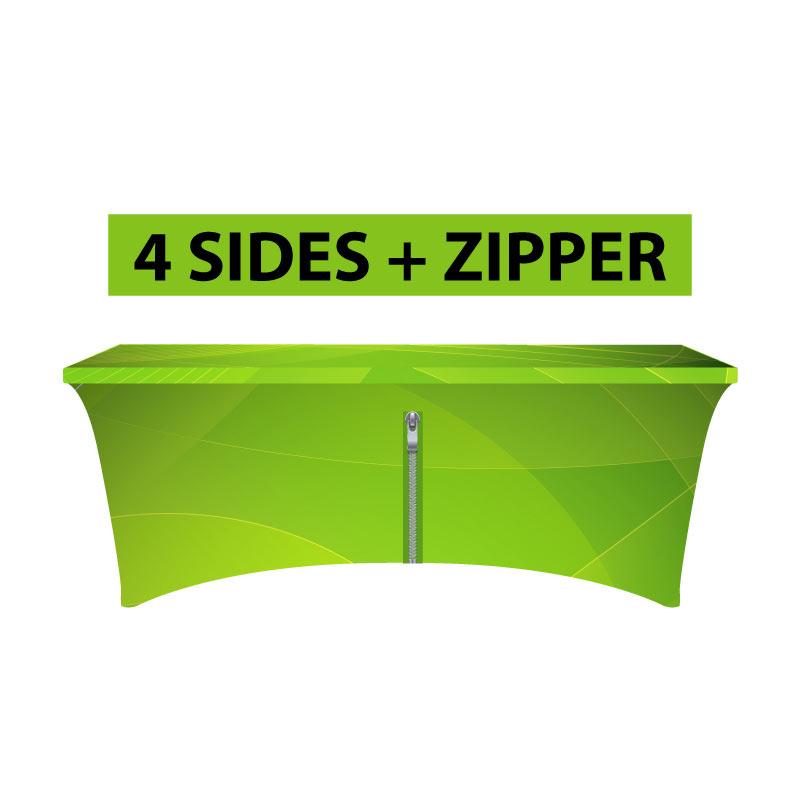 4 Sides + Zipper - Easier to set
