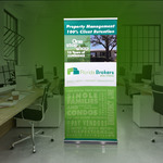 Retractable Banner for Real Estate Agents