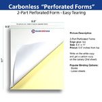 Perforated form for easy tearing - Letter Size