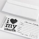 Modern tithe donation envelope for church |ColorCopiesUSA