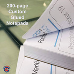 200-page custom glued notepad | ColorCopiesUSA