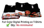 Full color printing on your t-shirts