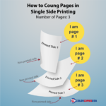 How to count pages in Single Sided orders of color copies