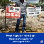 Most popular landscape yard sign 24 inches x 18 inches