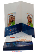 Example of a presentation folder with two inserts  | ColorCopiesUSA