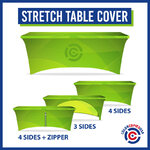 3 options for stretch table covers