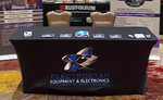 Stretch Table Covers in a trade show