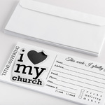 Modern tithe donation envelope for church |ColorCopiesUSA