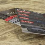brochures on cardstock and die cut