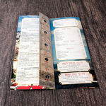 Menu trifold with coupon tab