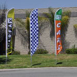Feather Flags to bring awareness to businesses
