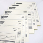 this image shows numbered carbonless NCR forms