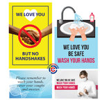 customize one of the posters to help keep your workplace clean and safe, without disturbing on your clients and co-workers |ColorCopiesUSA