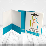 Presentation folders printed in full color on one side - ColorCopiesUSA