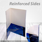 Presentation folders with reinforced side make a sturdier folder